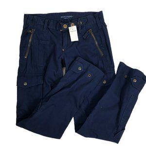 NWT Ralph Lauren Blue Label Navy Cargo Mid Pants 8